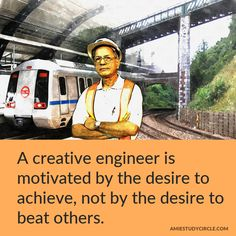 A creative engineer is motivated by the desire to achieve, not by the desire to beat others. Tech Quotes, Beats, Engineering, Technology, Motivation, Creative, Tech, Tecnologia, Mechanical Engineering