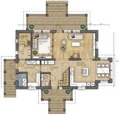 RAUHALA 188 - Kannustalo Home Design Plans, Own Home, My Dream Home, Future House, Interior And Exterior, House Plans, Sweet Home, Floor Plans, House Design