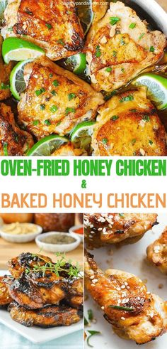 Whether baked or fried, this honey chicken recipe is perfect for a weeknight meal or a family gathering. When accompanied with a side dish of creamed corn and honey cornbread, this chicken dish makes a down home meal that no one will push aside. Healthy Low Carb Recipes, Healthy Dinner Recipes, Breakfast Recipes, Healthy Eats, Delicious Recipes, Best Chicken Recipes, Beef Recipes, Duck Recipes, Snacks Recipes
