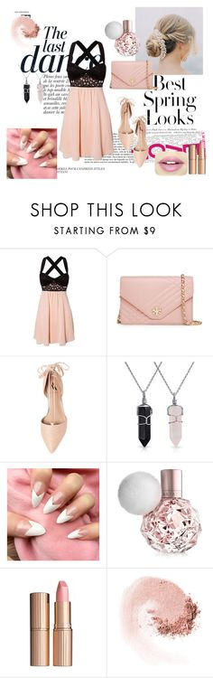 """""""Skater Dress"""" by edyta1234 ❤ liked on Polyvore featuring moda, Anja, H&M, Tory Burch, Ava & Aiden, Bling Jewelry, Charlotte Tilbury, NARS Cosmetics, Fiebiger ve Spring"""