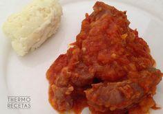 Jugosas, melosas y tiernas. Las carrilleras con salsa de tomate gustan a toda la familia.