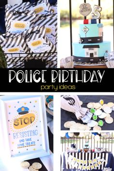 Police Party Ideas,