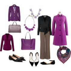 """Purple and Gray Outfit"" by peariam on Polyvore"