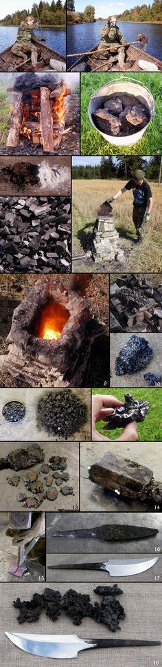 Making of the iron oldschool way and forging the knife from it.  raudan valmistus by ~jarkko1 on deviantART
