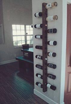 - Wine Rack 16 Bottle Ladder Wine Rack Wood Wine rack Wine Rack Wall Mounted Dining Room Wall Decor K - Dining Room Wall Decor, Kitchen Decor, Room Decor, Kitchen Rack, Kitchen Wood, Decorating Kitchen, Dining Rooms, Kitchen Dining, Diy Kitchen