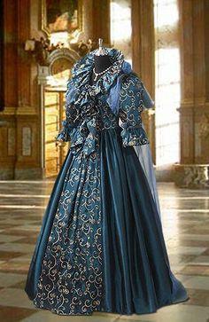 Renaissance Fairy Queen Dress in Ornament Taffeta, Handmade, Multiple Colors Available. $310.50, via Etsy.