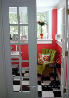 love this room - colors and floor