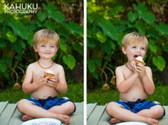 The board shorts and necklace Beach Cake Smash, Beach Cakes, Photographing Kids, Shorts, Children, Board, Face, Young Children, Photographing Boys