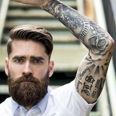 Cool and gentle full beard styles 34