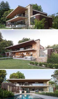 #Dekoration-Sandstein und Holz decken dieses neue australische Haus ab   - Abby Vann-#Dekoration