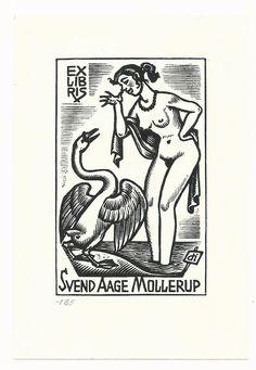 Ex Libris, Book Labels, Rarity, Erotica, Graffiti, Printing, Nude, Plates, Drawings