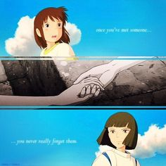 spirited away used to love this movie when I was little watched it a lot
