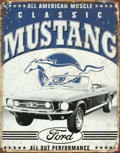 Classic Mustang Cartel de chapa at AllPosters.com