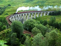 Steam Train on the Glenfinnan Viaduct. from Harry Potter