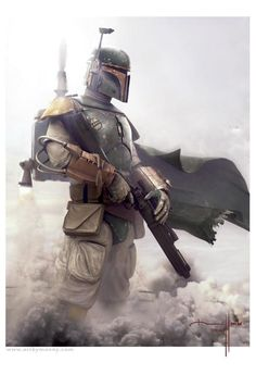 badass Boba Fett (from new amazing Star Wars illustrations) Bd Star Wars, Star Trek, Nave Star Wars, Star Wars Art, Starwars, Clone Wars, Fan Art, Digital Art Illustration, Chasseur De Primes