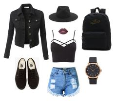 """""""Black Summer"""" by dnellydx ❤ liked on Polyvore featuring Topshop, LE3NO, Charlotte Russe, Vans, Lime Crime, rag & bone and Marc Jacobs"""