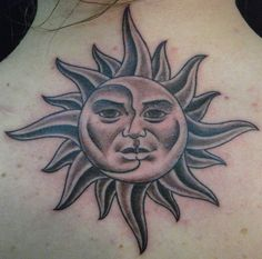 What does sun tattoo mean? We have sun tattoo ideas, designs, symbolism and we explain the meaning behind the tattoo. Sun Tattoo Meaning, Moon Sun Tattoo, Sun Tattoos, Feather Tattoos, Sun Moon, Tattoos With Meaning, Tatoos, Sun Rays, Flag Tattoos