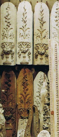"""House and Garden   Plaster moulds made for copies of magnificent Antique boiserie-carved paneling"""""""