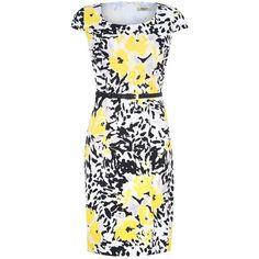 Precis Petite Floral Print Dress, Multi (£69) found on Polyvore