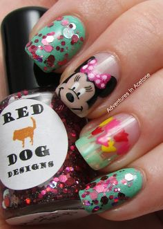 Adventures In Acetone: Red Dog Designs: The Mouse Collection! Minnie's Tulips