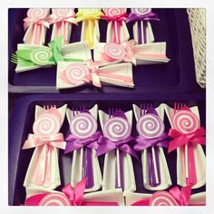 Candy cutlery...fun way to spice up a table setting!