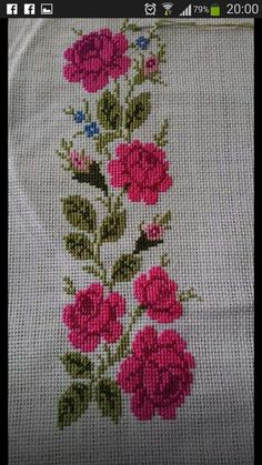 The most beautiful cross-stitch pattern - Knitting, Crochet Love Cross Stitch Rose, Cross Stitch Borders, Modern Cross Stitch, Cross Stitch Flowers, Cross Stitch Designs, Cross Stitching, Cross Stitch Embroidery, Hand Embroidery, Cross Stitch Patterns