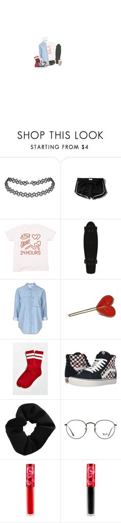 """Cherry Bomb"" by irondeficient ❤ liked on Polyvore featuring Abercrombie & Fitch, Topshop, Urban Outfitters, Vans, Ray-Ban and Lime Crime"