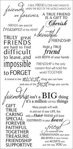 Friendship Rub-On Quotes 471432