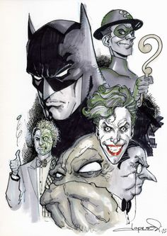 Batman & The Villians Gallery ~ Aaron Lopresti