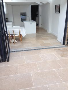 Dijon Tumbled limestone tiles - Dijon limestone flooring from Large format and small format tiles. In stock, free samples Dijon tumbled natural stone. Paving Stones, Outside Flooring, House, Kitchen Flooring, Limestone Flooring, Exterior Doors, Flooring, Patio Flooring, Patio Tiles
