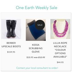 Last chance for this weeks #sales! Msg me to order by 9pm and #savemoney, the #holidays are coming! Message me to order or shop online. oneearthbydanielle@gmail.com or www.facebook.com/oneearthbydanielle or www.one1earth.com/#_a_danielle.waite #one1earth #bepartofthechange #peoplehelpingpeople