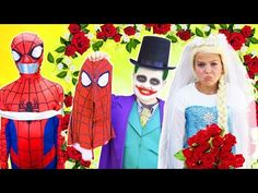 Spiderman Saves Elsa on Marriage ceremony Day vs Joker! Princess Anna, Disney Princess, Spiderman And Frozen, Anna Blue, Elsa Frozen, Maleficent, Real People, Pranks, Perfect Wedding