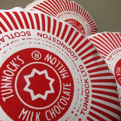 The original Tunnock's Teacake Cushion, by Nikki McWilliams: the answer to every biscuit lover's prayers- a chocolatey treat for your sofa- without the crumbs! Thanks For The Gift, Printed Cushions, Tea Cakes, Cushion Pads, Art Furniture, Bold Colors, Screen Printing, Design Art, Presents