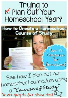 """Planning Out Your Homeschool Curriculum! How to Create a Homeschool Course of Study. This is part of a series I'm doing on """"How to Organize Your Homeschool."""" Trying to plan out your homeschool year? See how I plan out our homeschool curriculum for the year by using a """"Course of Study."""" http://www.raisingclovers.com/2015/07/08/planning-out-your-homeschool-curriculum/"""