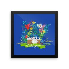 #bookstagram Floral Art Print