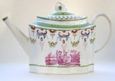 Pearlware Teapot Possibly David Dunderdale & Co., c1800-10