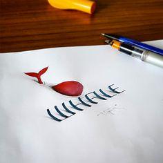 3D-каллиграфия Tolga Girgin
