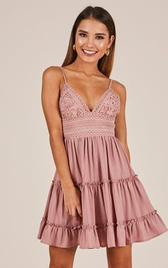 1e07be8ecc How Do You Know Dress In Dusty Rose Produced