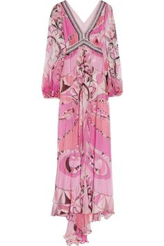 Silk dress floral chiffon