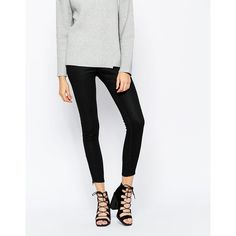 Cheap Monday Black Super Skinny Ankle Grazer ($48) ❤ liked on Polyvore featuring jeans, black, skinny fit jeans, tall jeans, zipper skinny jeans, skinny jeans and 5 pocket jeans