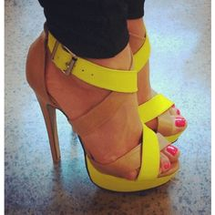 Amazing Contrast Colour Coppy Leather Cut-Outs High Heel Sandals