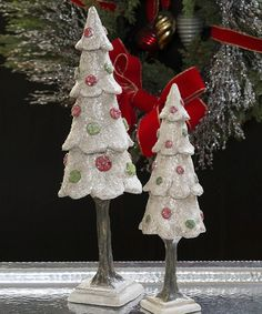 Take a look at this Christmas Gumdrop Tree Figurine Set by ESC and Company, Inc. on #zulily today!