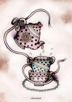 tea time by cakesandink