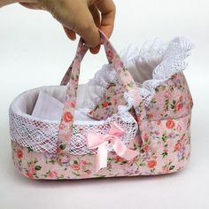 Doll bassinet for 16 cm baby doll Переноска для пупса 16 см #переноскадлякуклы #dollbassinet #dollcradle #dollcrib