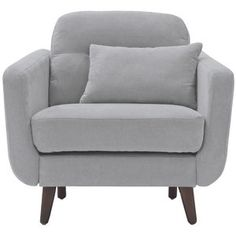 With mid-century modern appeal, the Chloe Armchair from Elle Décor blends easily with contemporary and retro furnishings. Upholstered in soft microfiber in a neutral tone, it adds easy elegance and cozy comfort with deep seating and high arm rests. Chloe, Mid Century Modern Armchair, Lounge, Bolster Pillow, Office Depot, Barrel Chair, Club Chairs, Modern Chairs, Decoration
