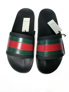 cce7066873bf Gucci Pursuit  72 Slides - Size 11 US 10 UK Black Slip On Sandals