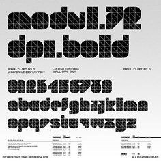 FFFFOUND! | TypeNeu. An Odyssey in Typography