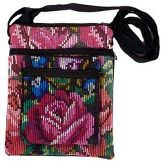 Chichi Double Pocket Bag.  Handmade in Guatemala.  Recycled.  Fair Trade.  www.uniquebatik.us