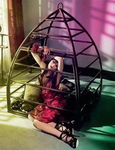 Traum, schöne bird cage bondage