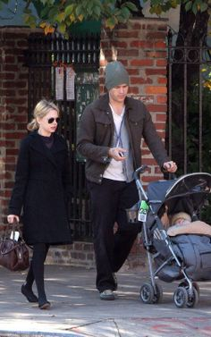 Michelle Williams, Heath Ledger and baby Matilda Rose